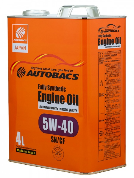 Масло моторное Autobacs Engine oil 5W-40 4л