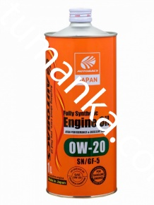 Масло моторное Autobacs Engine oil 0W-20 1л SN/GF-5/